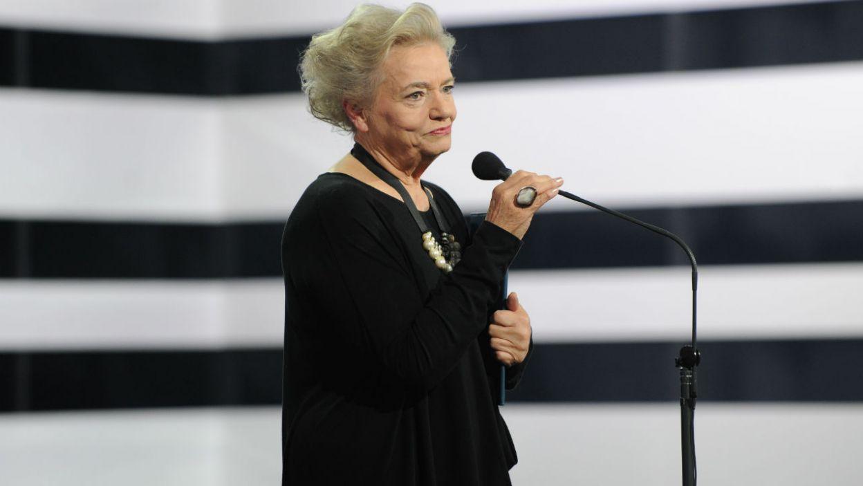 """Nagrodę Aktorską za rolę kobiecą w słuchowisku otrzymała Anna Seniuk za rolę w spektaklu """"Drugie życie"""" (fot. N. Młudzik/TVP)"""