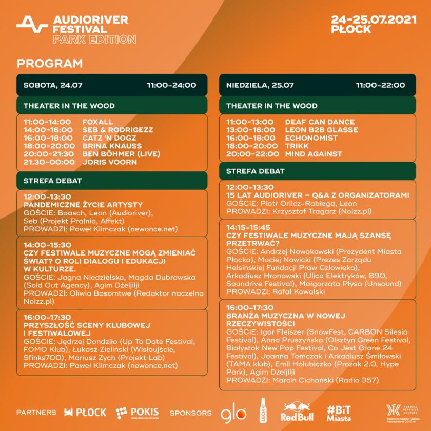 Muzyka, dialog i edukacja/Znamy pełny program Audioriver Park Edition!