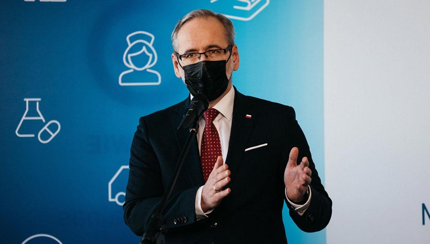 Minister zdrowia Adam Niedzielski (fot. PAP/Marcin Gadomski)