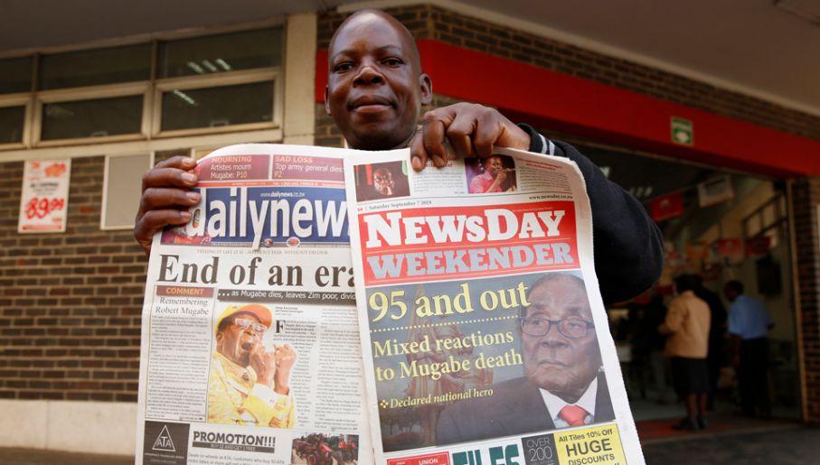 Mugabe doprowadził swoj kraj do ruiny (fot. PAP/EPA/AARON UFUMELI)