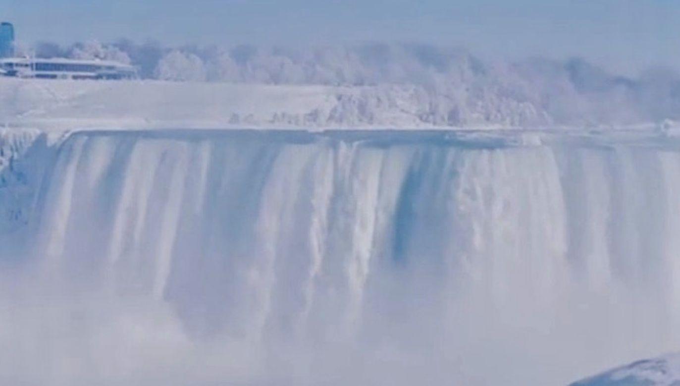 Częściowo zamarznięta Niagara (fot. EBU/Nasim Yusufi)
