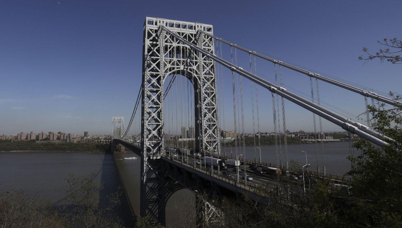 Most im. Jerzego waszyngtona na rzece Hudson to jedna z najważniejszych arterii łączących dzielnice Nowego Jorku(fot. Gary Hershorn/Getty Images)