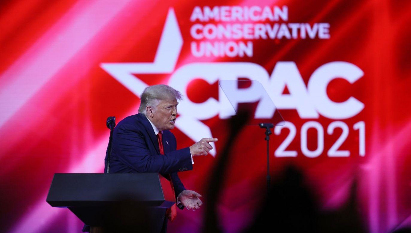 Donald Trump nie wyklucza kandydowania w 2024r. (fot. Joe Raedle/Getty Images)