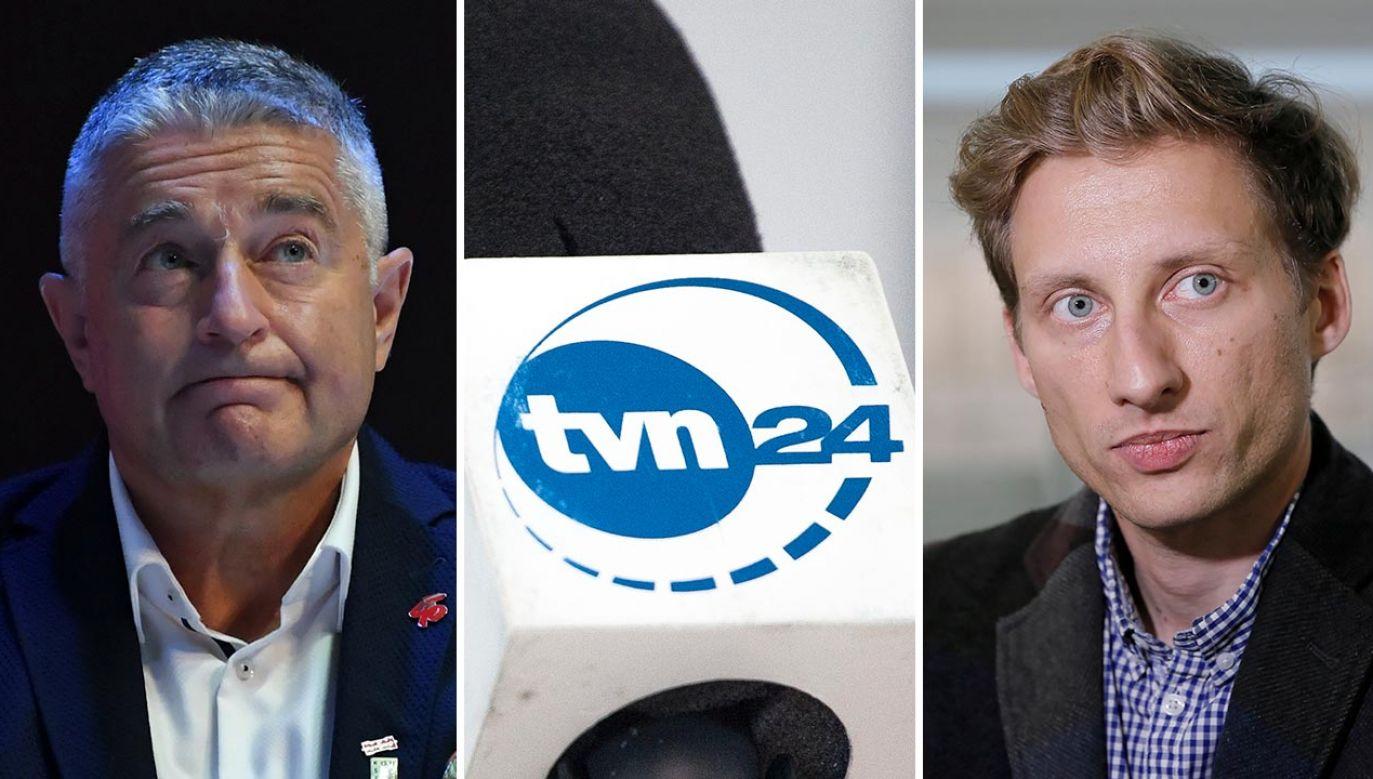 Władysław Frasyniuk, Franiczek Sterczewski, TVN (fot. PAP/Adam Warżawa; Maciej Luczniewski/NurPhoto via Getty Images; PAP/Leszek Szymański)