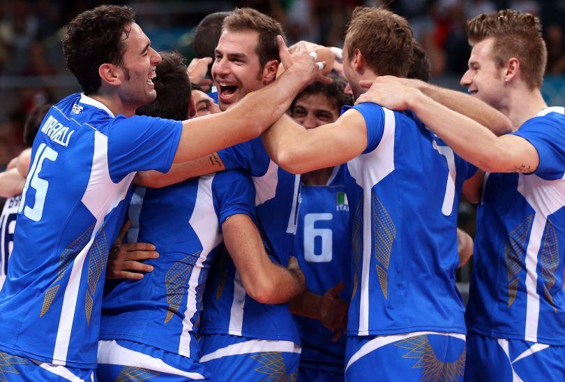 Włosi wywalczyli brązowy medal w siatkówce. Azurri pokonali Bułgarów 3:1 (fot. PAP/EPA)