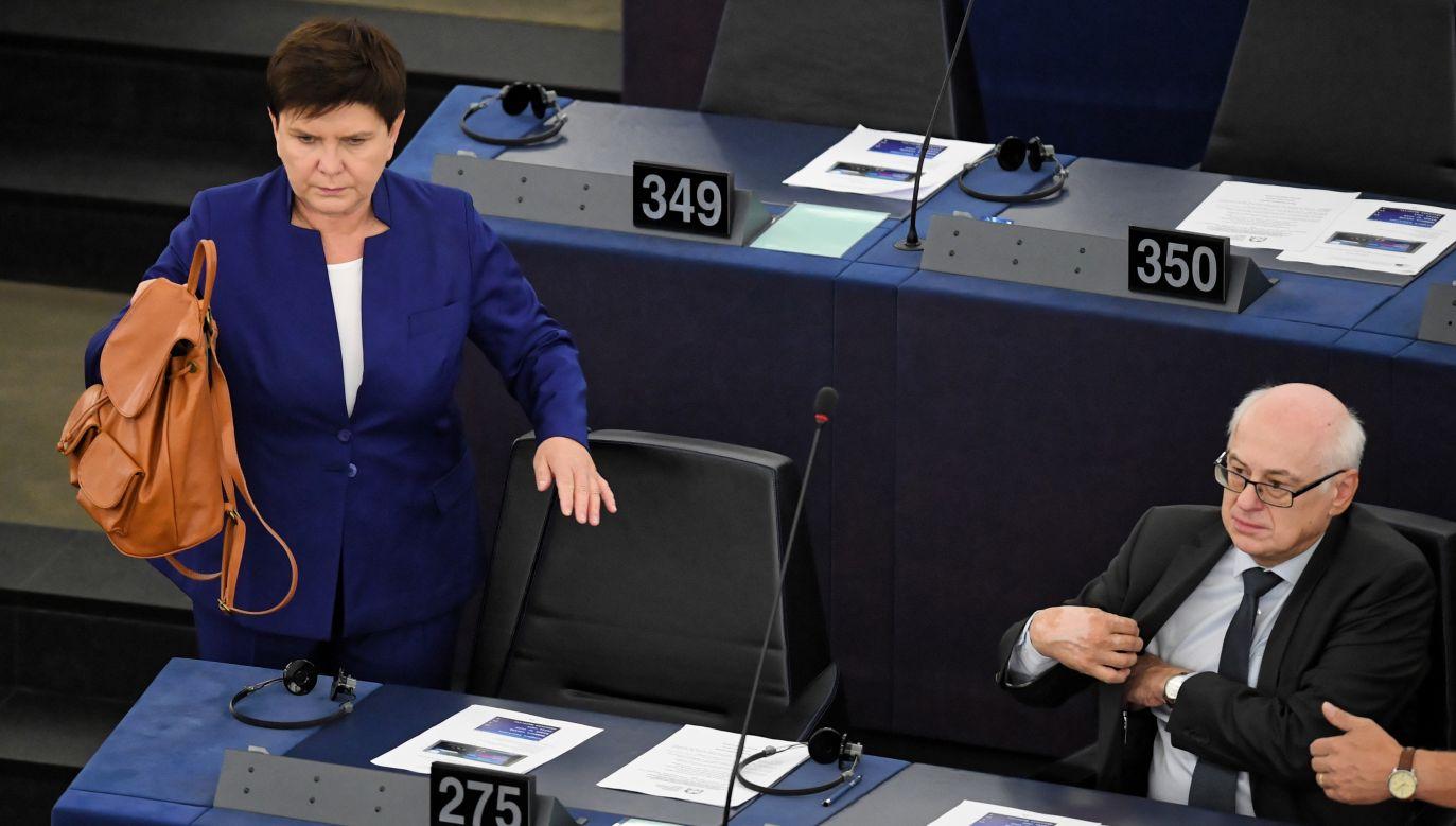 W poniedziałek wieczorem europarlamentarzyści ponownie odrzucili kandydaturę byłej premier Beaty Szydło na stanowisko szefowej komisji zatrudnienia w PE (PAP/Radek Pietruszka)