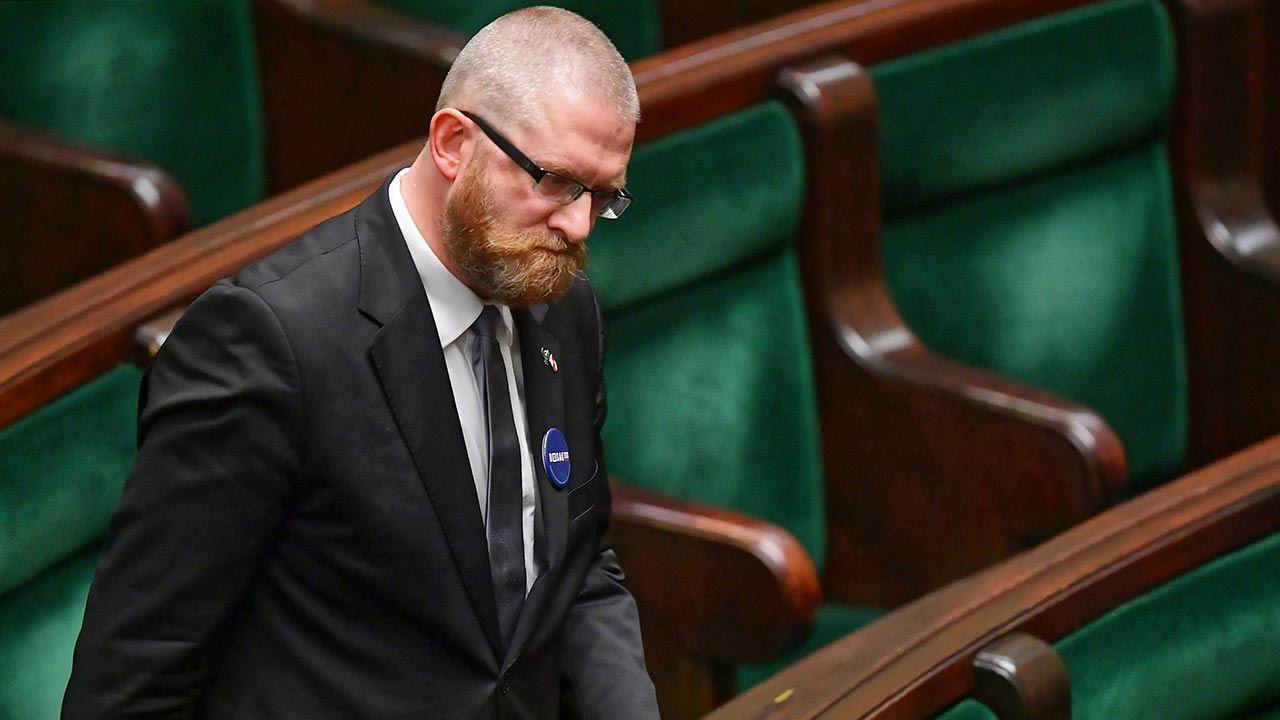 Oburzające zachowanie polityka Konfederacji (fot.  PAP/Marcin Obara)