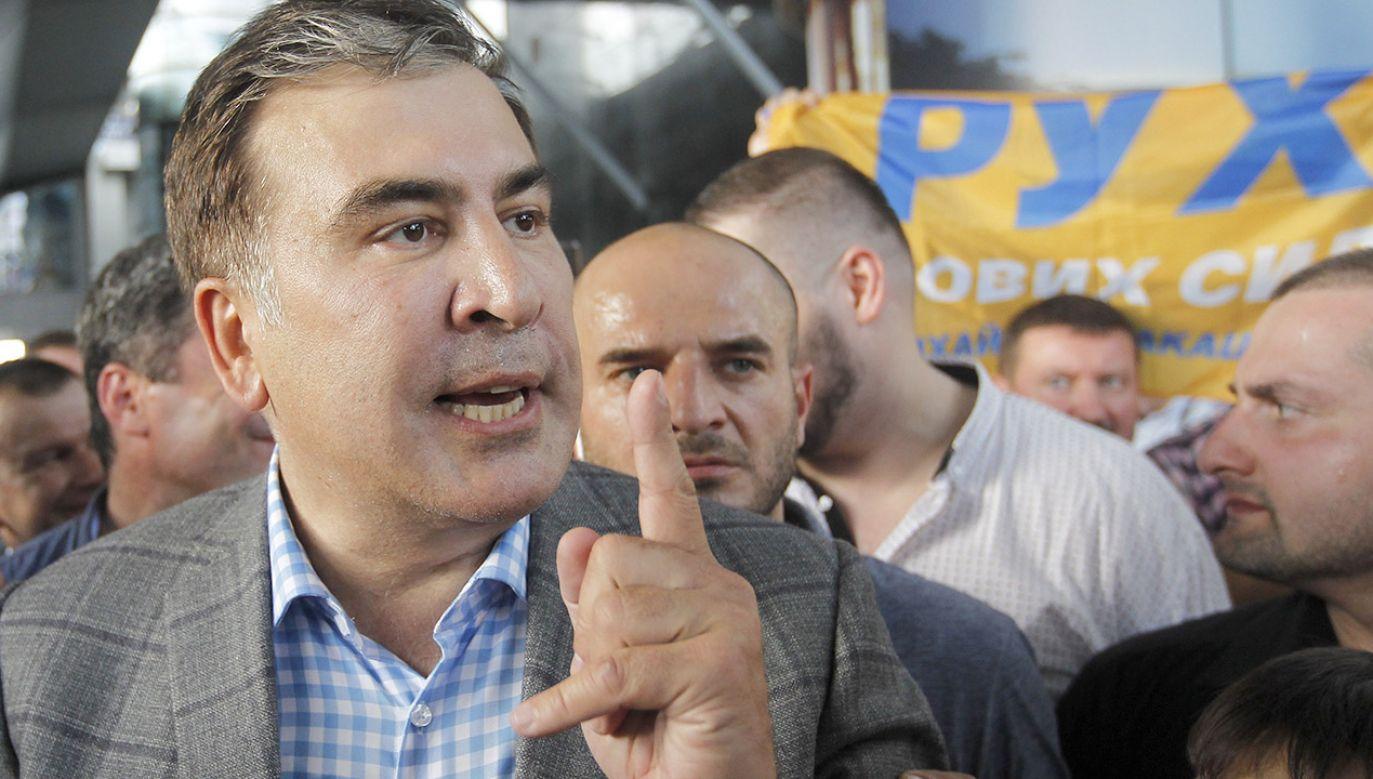 Michail Saakaszwili kilka tygodni temu odzyskał ukraińskie obywatelstwo, które w 2017 roku odebrał mu prezydent Petro Poroszenko (fot. Pavlo Conchar/SOPA Images/LightRocket via Getty Images)