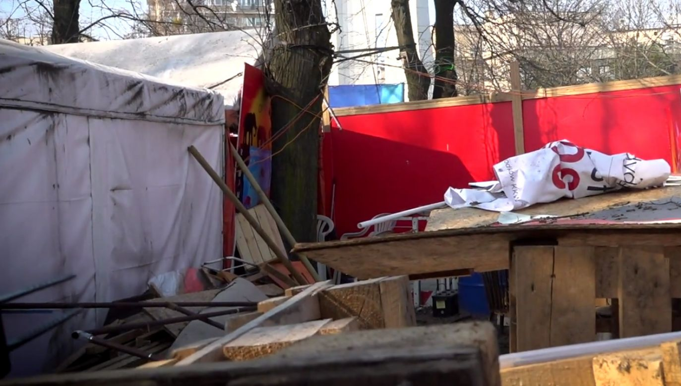 Koczowisko KOD (fot. portal tvp.info)
