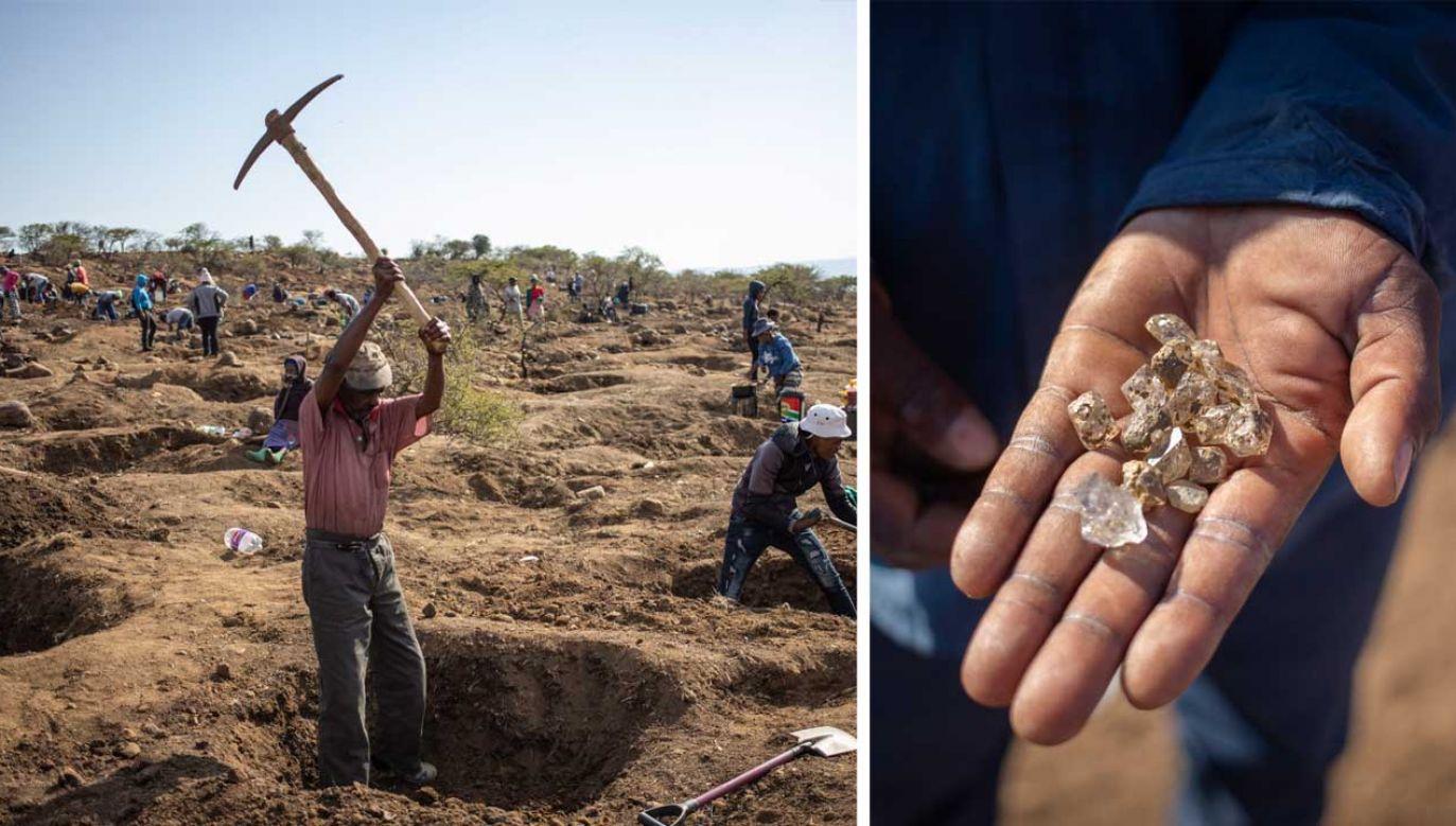 Na polu w RPA pasterz znalazł przezroczyste kamienie. Wiadomo, czy to diamenty (fot. PAP/EPA/Kim Ludbrook)