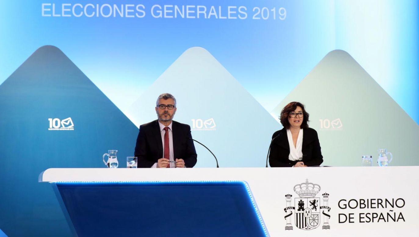 W Hiszpanii podano wyniki sondażowe (fot. TVP/EPA/KIKO HUESCA)
