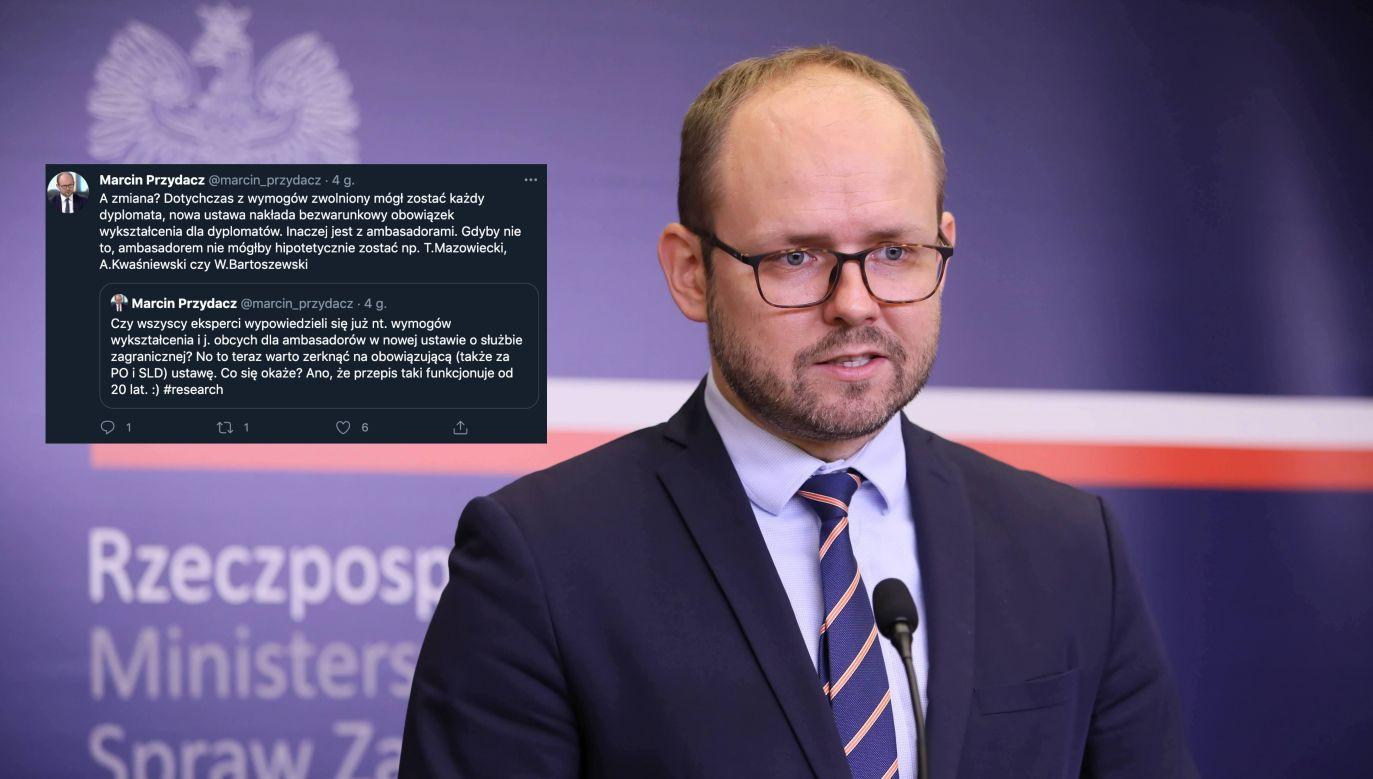 Wiceminister MSZ Marcin Przydacz (fot. PAP/Leszek Szymański)