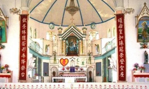 Wnętrze kościoła w Donglu stan obecny. Fot. Catholic.org./Gabriel Chow