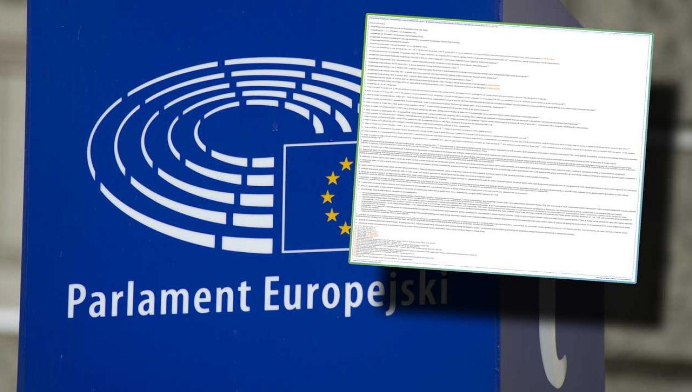 """Kto z polskich europosłów głosował """"za"""" rezolucją PE? (fot. Aleksander Kalka/NurPhoto via Getty Images)"""