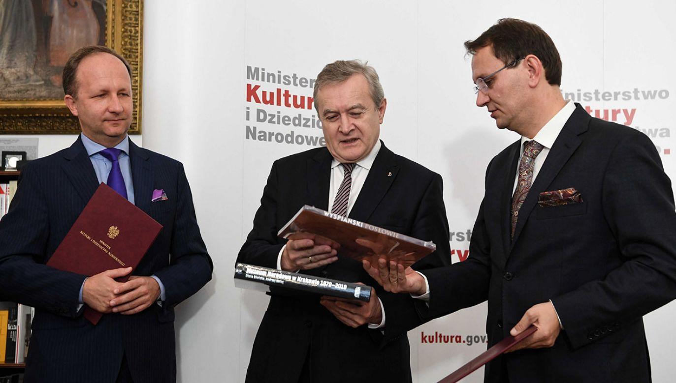 Uroczystosć odbyła się w siedzibie Ministerstwa Kultury i Dziedzictwa Narodowego  (fot. PAP/Piotr Nowak)