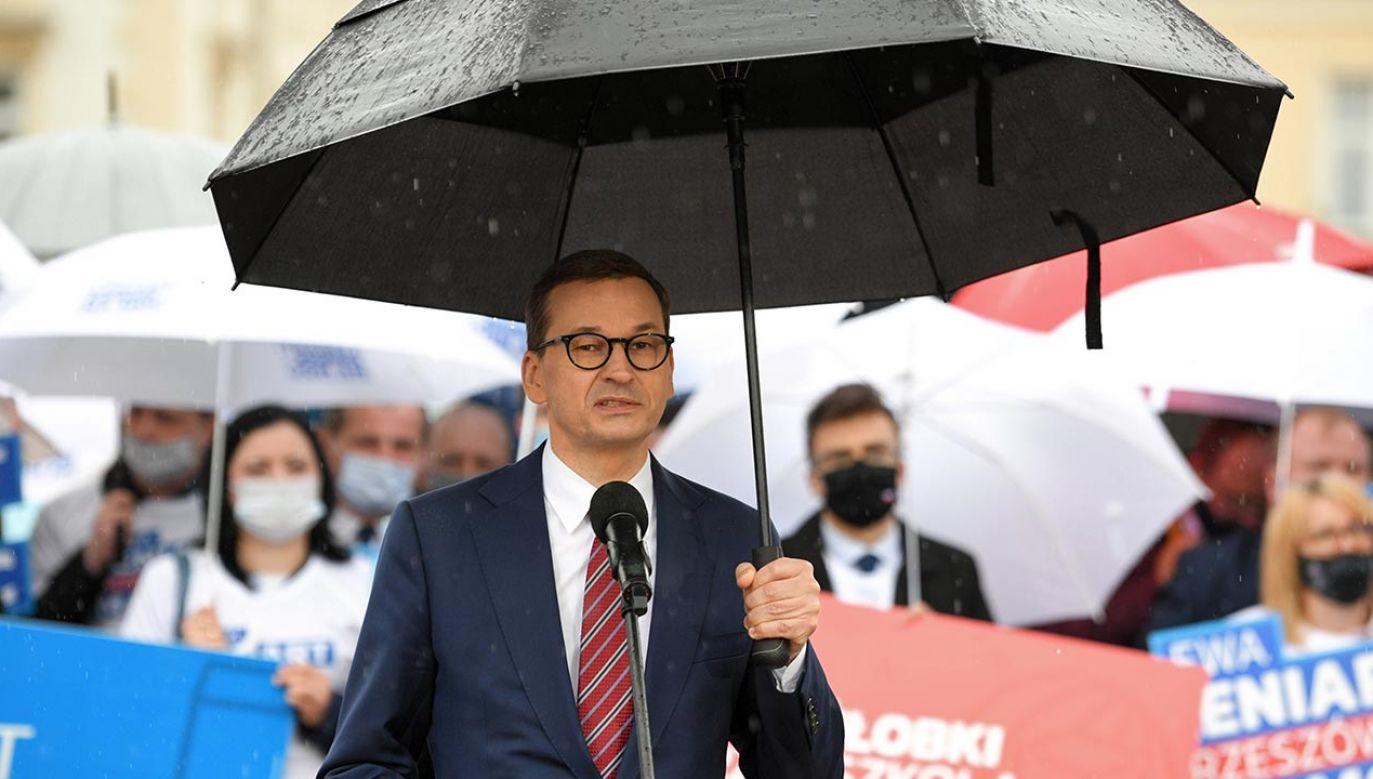 Premier wsparł kandydatkę na prezydenta Rzeszowa (fot. PAP/Darek Delmanowicz)