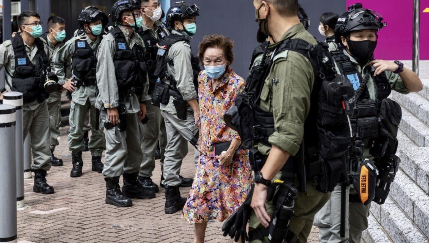 """Brytyjski rząd określił ustawę o bezpieczeństwie narodowym Hongkongu, jako """"wyraźne i poważne"""" naruszenie wspólnej brytyjsko-chińskiej deklaracji z 1984 roku(fot. Miguel Candela Poblacion/Anadolu Agency via Getty Images)"""