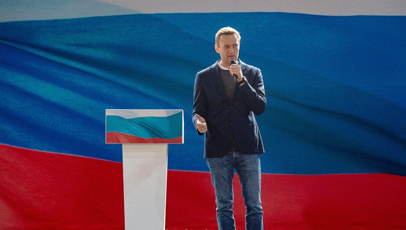 """Opozycjonista wypowiada się na kongresie swojej niezarejestrowanej partii """"Rosja przyszłości"""" (fot. Dmitry Serebryakov\TASS via Getty Images)"""