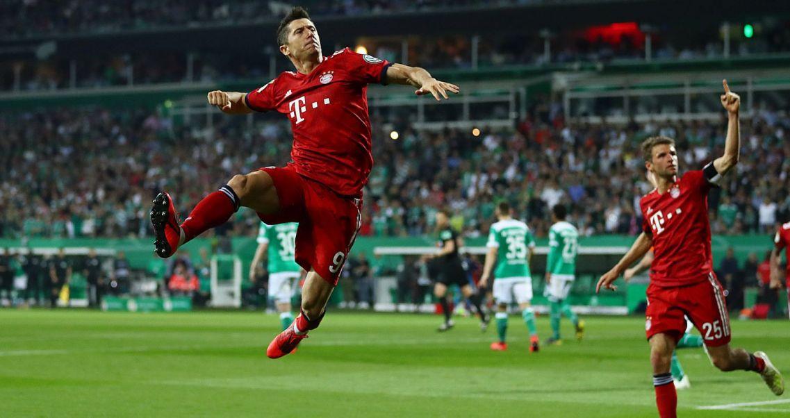 db83094e4 Kapitalny mecz w Bremie. Lewandowski wprowadził Bayern do finału ...