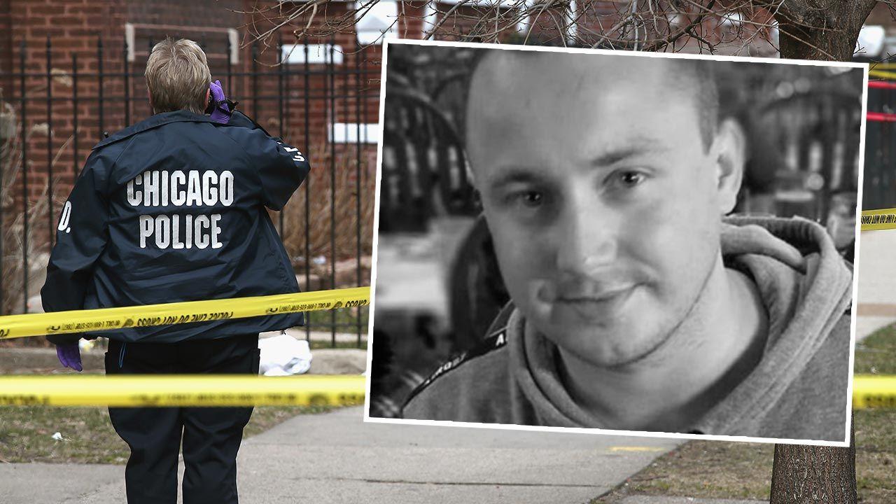 Do zbrodni doszło na parkingu w Chicago (fot. Scott Olson/Getty Images; gofundme.com)