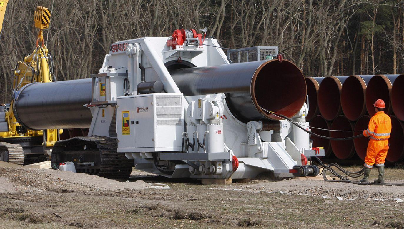 Decyzja TSUE może mieć negatywne konsekwencje dla Nord Stream 2 (fot. PAP/EPA/NESTOR BACHMANN)