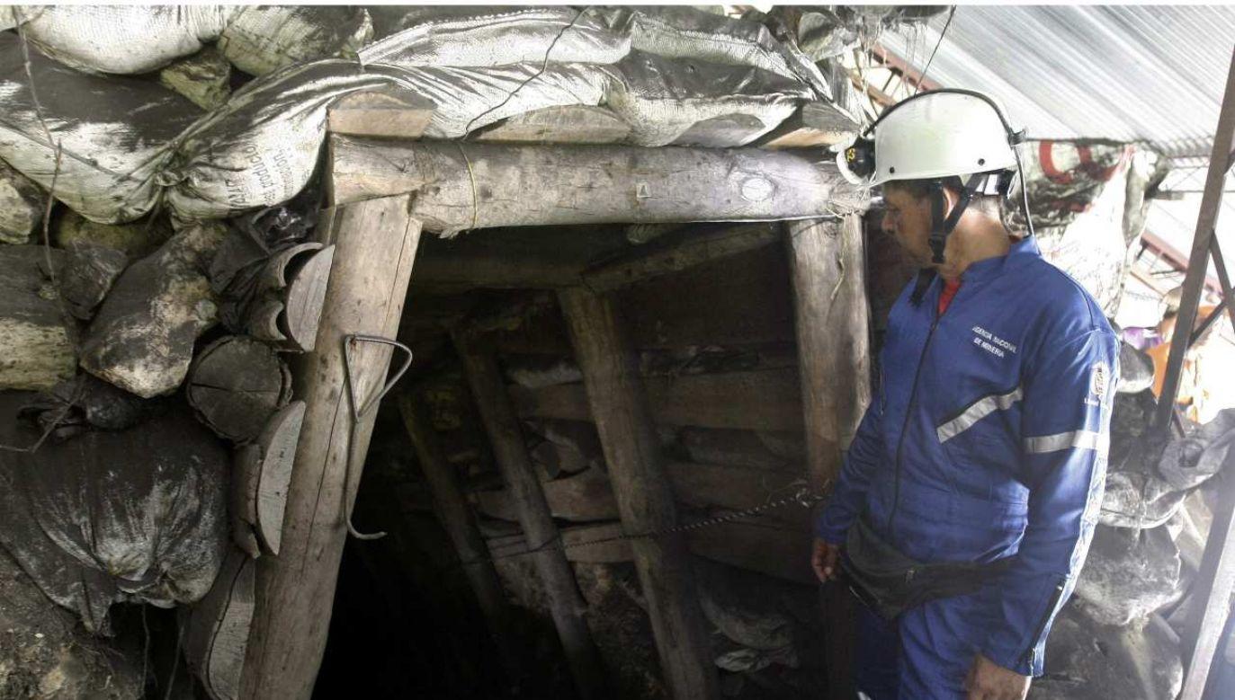 W 2020 roku w wypadkach górniczych w Kolumbii zginęło 171 osób (fot. PAP/EPA/Luis Eduardo Noriega)