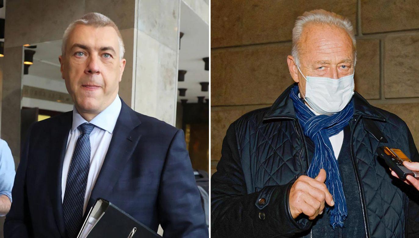 Ryszard Krauze oraz adwokat Roman Giertych są wśród 12 zatrzymanych (fot. PAP/Tomasz Gzell, Jakub Kaczmarczyk)