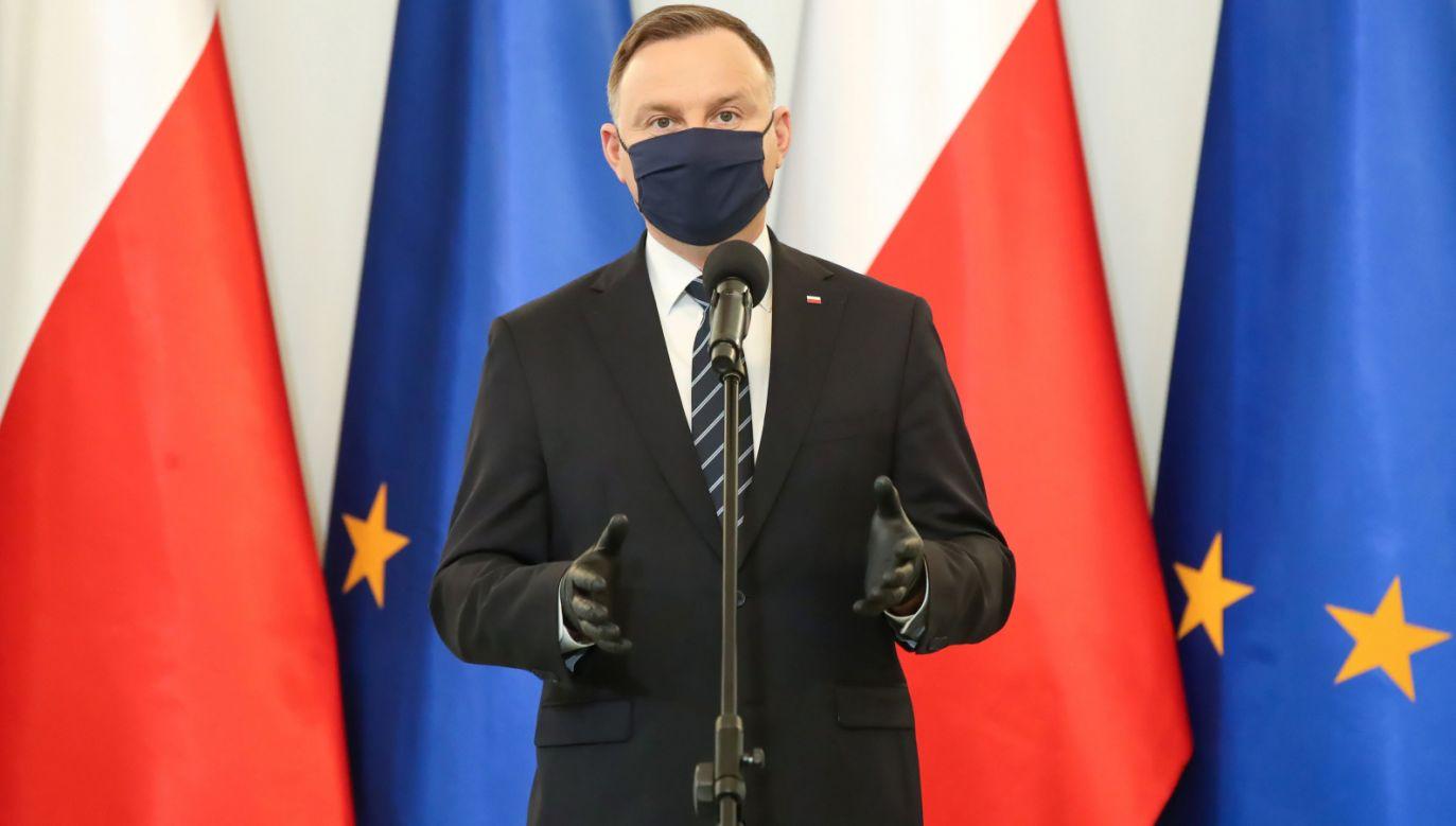 Prezydent Andrzej Duda (fot. PAP/Grzegorz Jakubowski/KPRP)