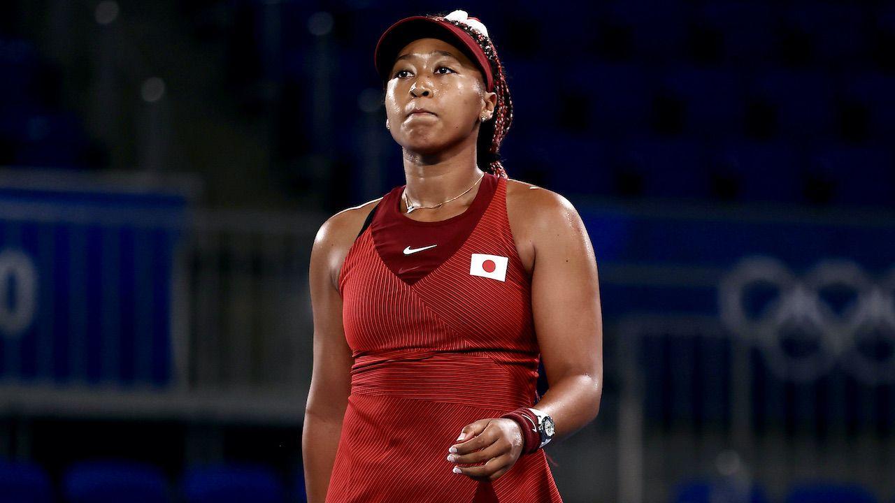 Naomi Osaka już w 3. rundzie odpadła z turnieju olimpijskiego (fot. Getty)