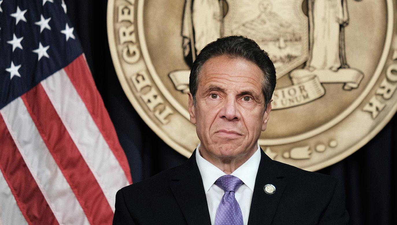 Andrew Cuomo, gubernator stanu Nowy Jork  (fot. Spencer Platt/Getty Images)