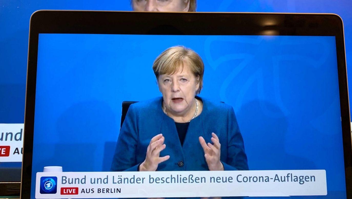 Decyzja Angeli Merkel o drugim lockdownie jest mocno krytykowana (fot. Peng Dawei/China News Service via Getty Images)