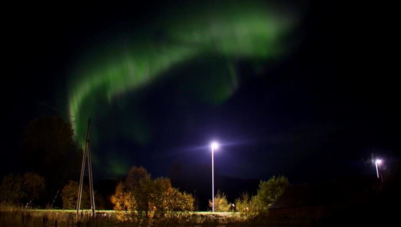 Zorza polarna w północnej Norwegii (fot. ebu/ Terje Nesthus)