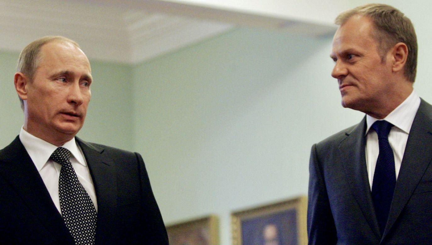 Władimir Putin i Donald Tusk (fot. Sasha Mordovets/Getty Images)