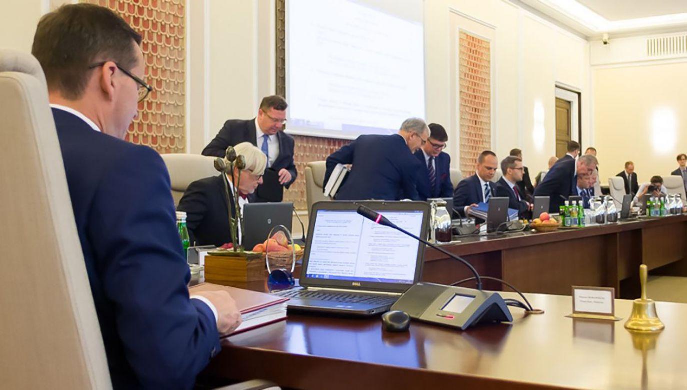 Premier Mateusz Morawiecki przedstawił proponowany skład nowego rządu (fot.  Krystian Maj /KPRM)