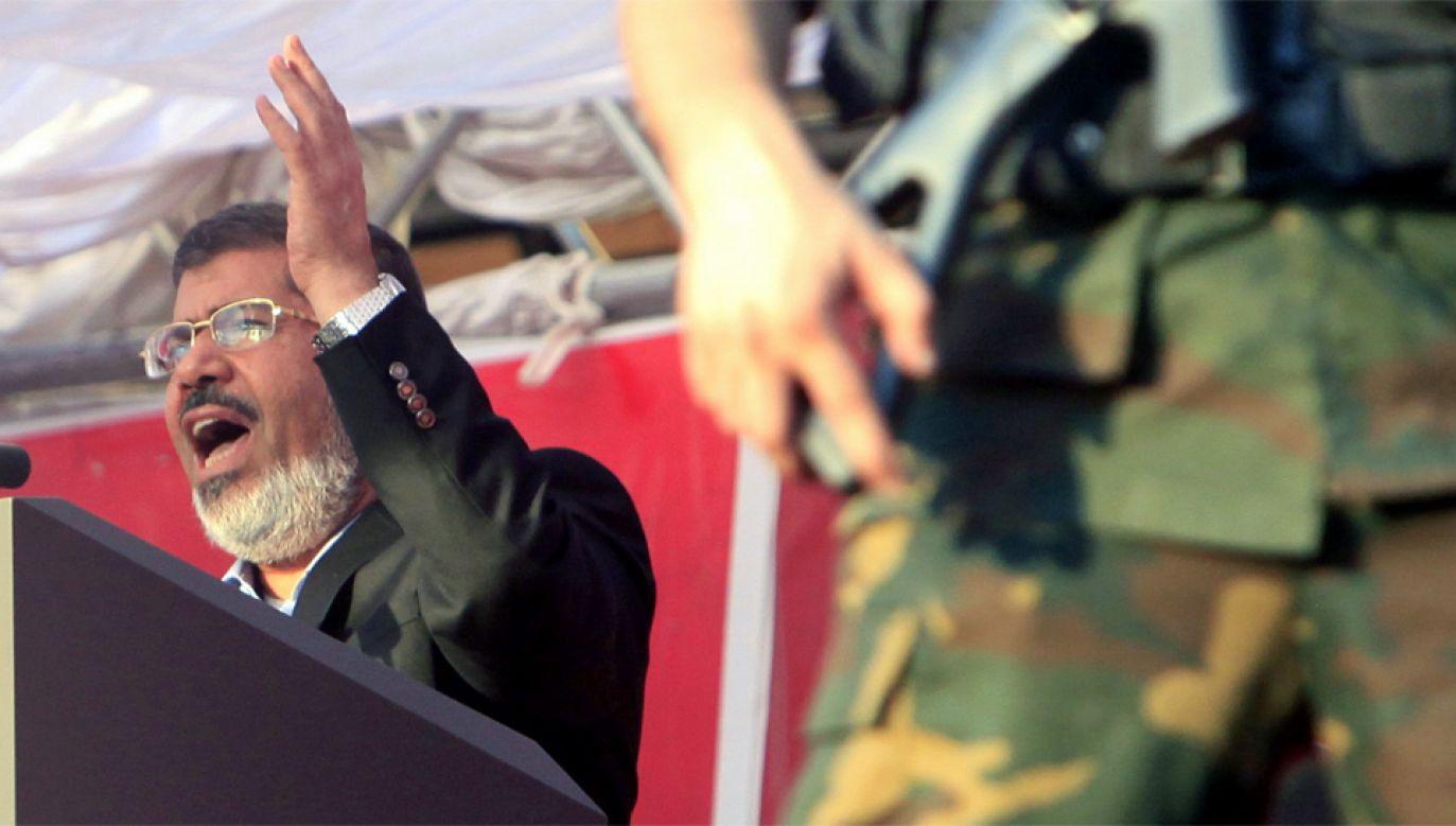 Mohammed Mursi od sześciu lat przebywał w więzieniu (fot. PAP/EPA/ANDRE PAIN)