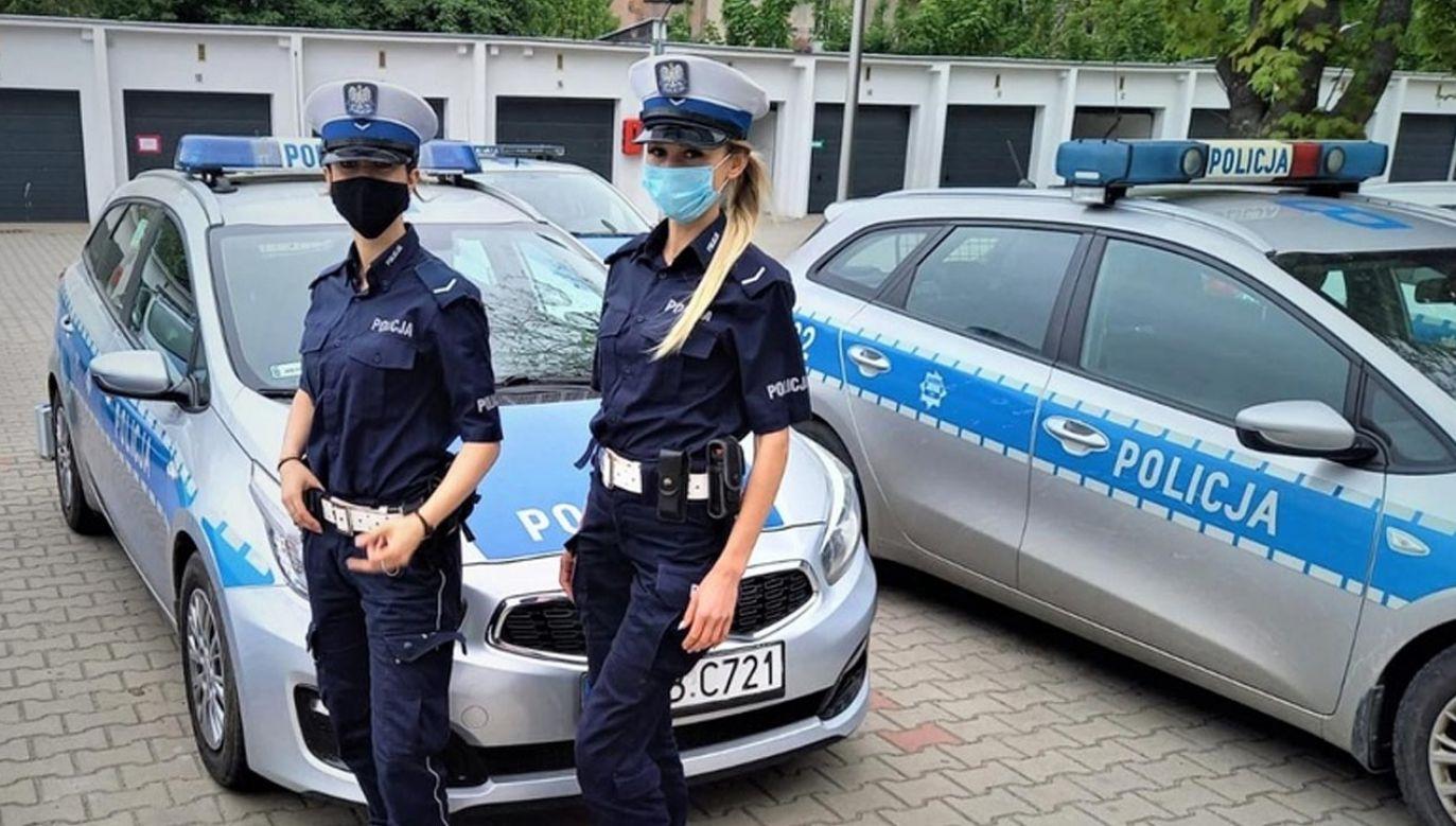 Policjantki pilotowały do szpitala samochód z rodzącą (fot. Policja)