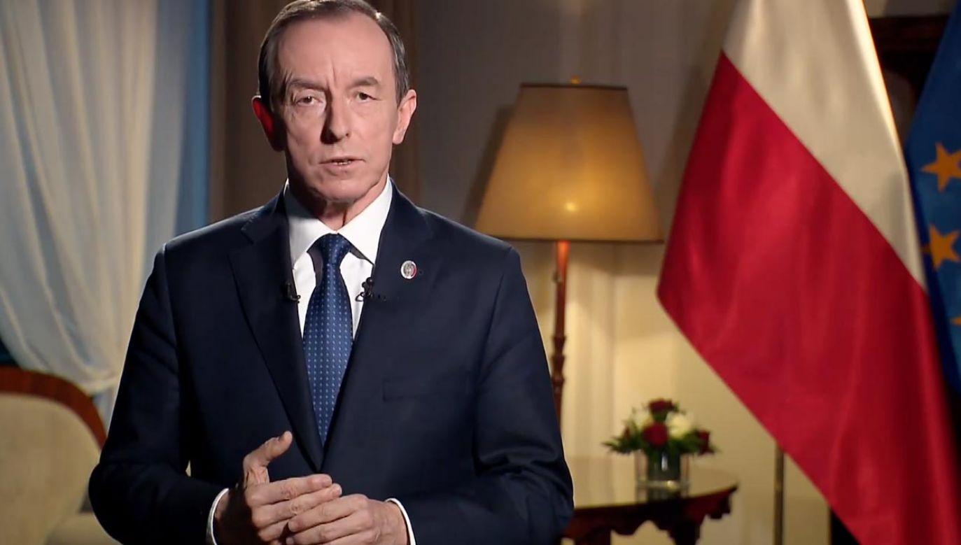 Grodzki mówił o praworządności (fot.TVP Info)