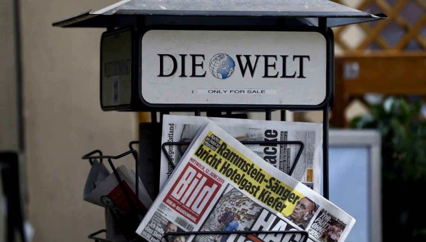 """""""Musimy porozmawiać, panie Duda!"""" - takimi słowami zwrócił się do prezydenta Polski redaktor naczelny niemieckiego dziennika """"Die Welt"""" Ulf Poschardt  (fot. Krisztian Bocsi/Bloomberg via Getty Images)"""