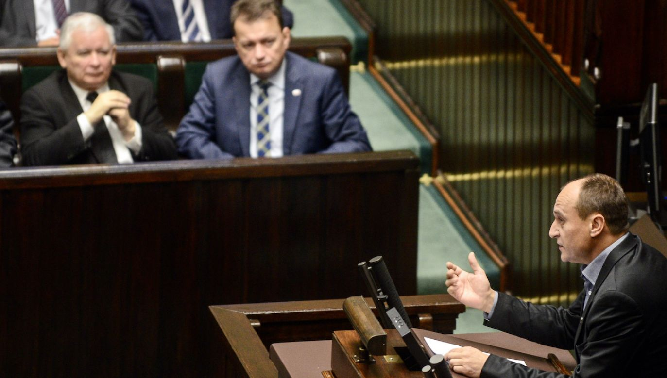 PawełKukiz jest w częstych kontakcie z Jarosławem Kaczyńskim (fot. arch.PAP/J.Kamiński)