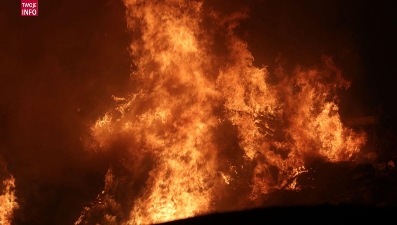 Według naszego czytelnika pożar jest ogromny (fot. Twoje Info/ Mikołaj Piątkowski)