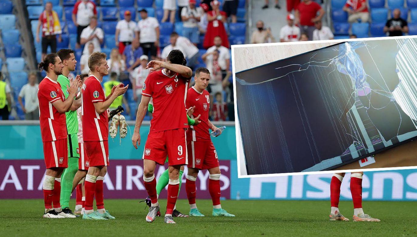 Emocje po przegranym meczu (fot. Gonzalo Arroyo - UEFA/UEFA via Getty Images; Shutterstock/Vilgun, zdjęcie ilustracyjne)