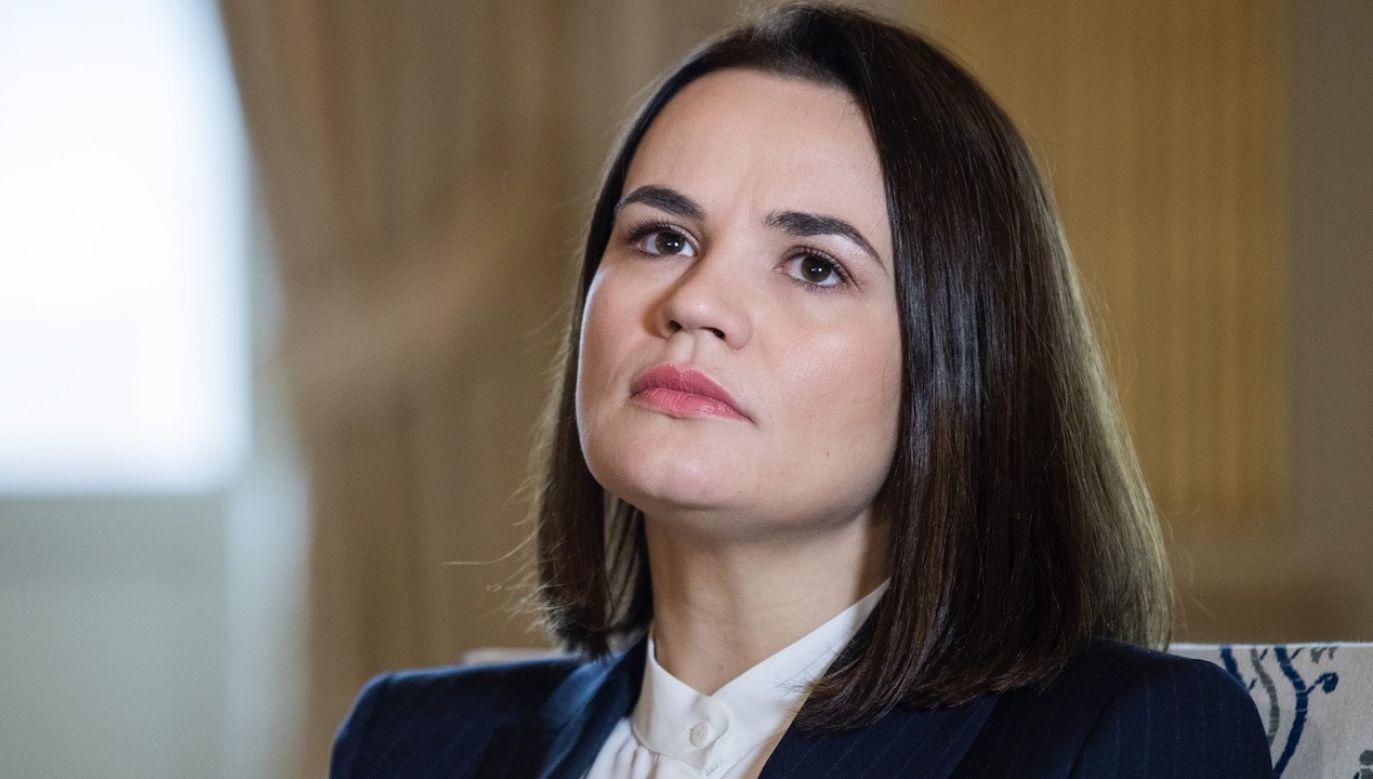 Swiatłana Cichanouska jest liderką białoruskiej opozycji (fot. PAP/EPA/Claudio Bresciani)