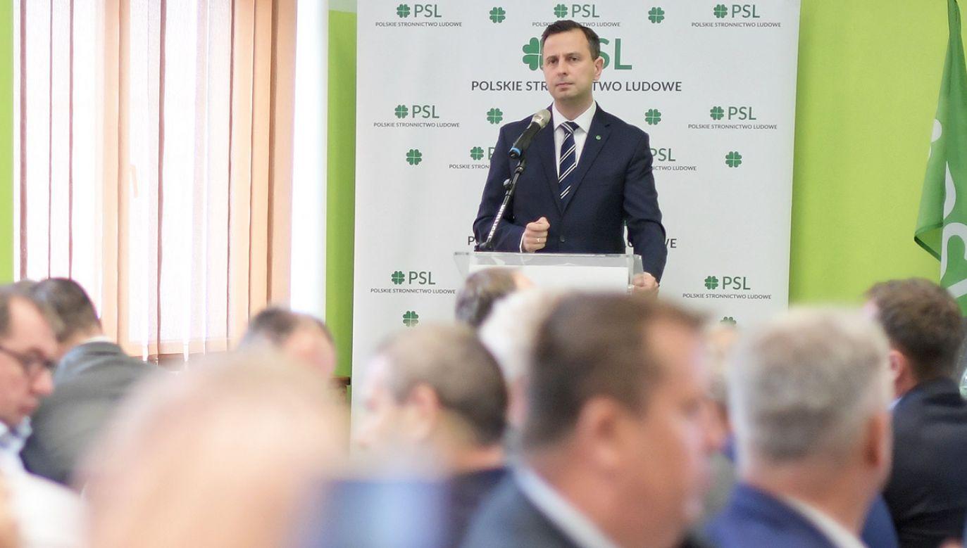 Prezes PSL Władysław Kosiniak-Kamysz (fot.  PAP/Marcin Obara)