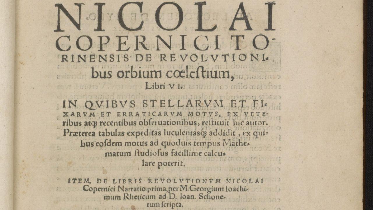 Wśród 51 książek znalazło się drugie wydanie dzieła Kopernika (fot. Library of Congress)