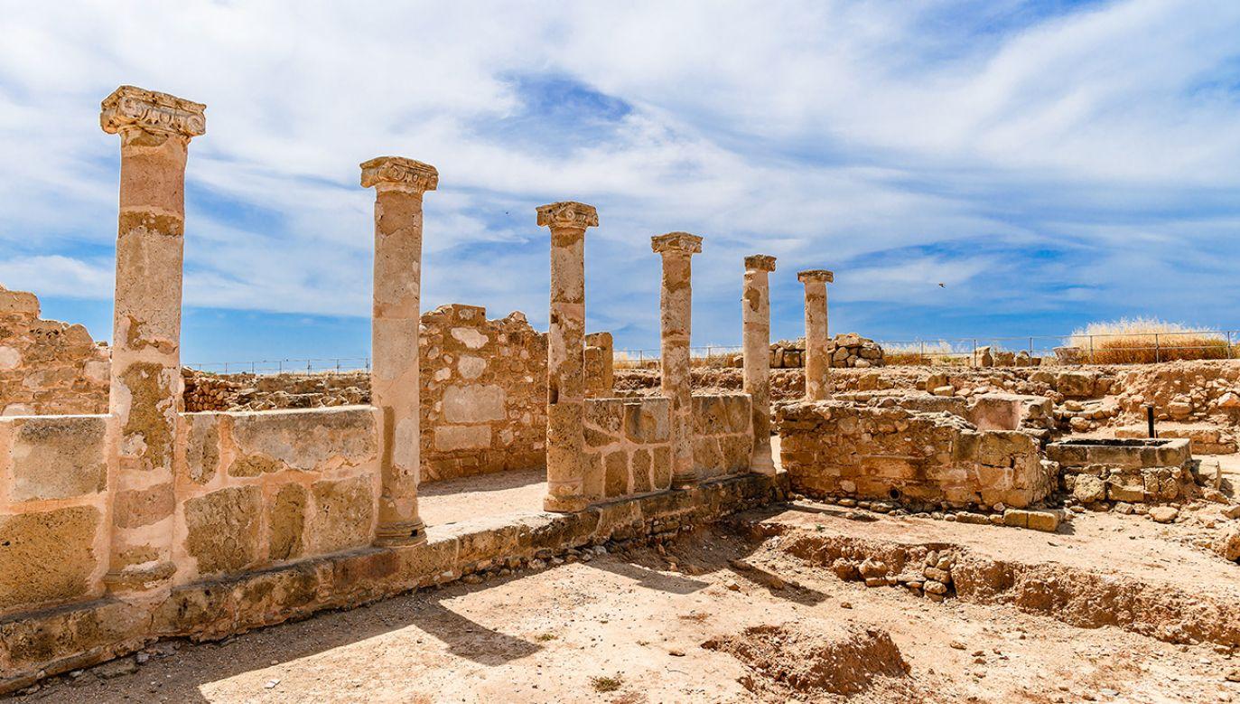 Antyczne kolumny w Parku Archeologicznym Kato Pafos UNESCO - ruiny starożytnego miasta Nea Pafos (fot. Shutterstock)
