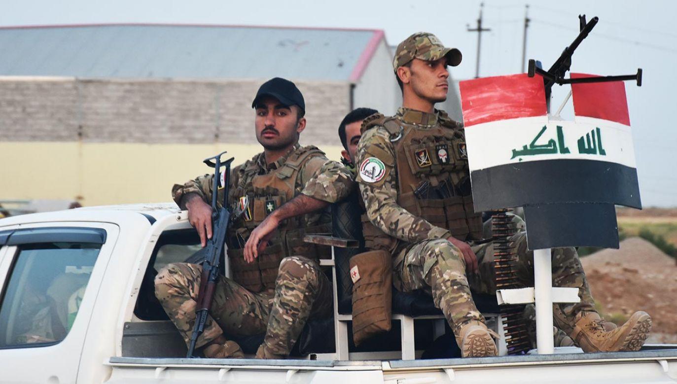 W nocy z czwartku na piątek iraccy antyterroryści wkroczyli do bazy proirańskiej milicji Kataib Hezbollah w Bagdadzie (fot. Ali Makram Ghareeb/Anadolu Agency via Getty Images)