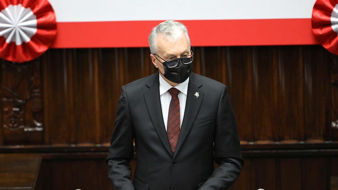 Prezydent Litwy Gitanas Nauseda (fot. PAP/Wojciech Olkuśnik)