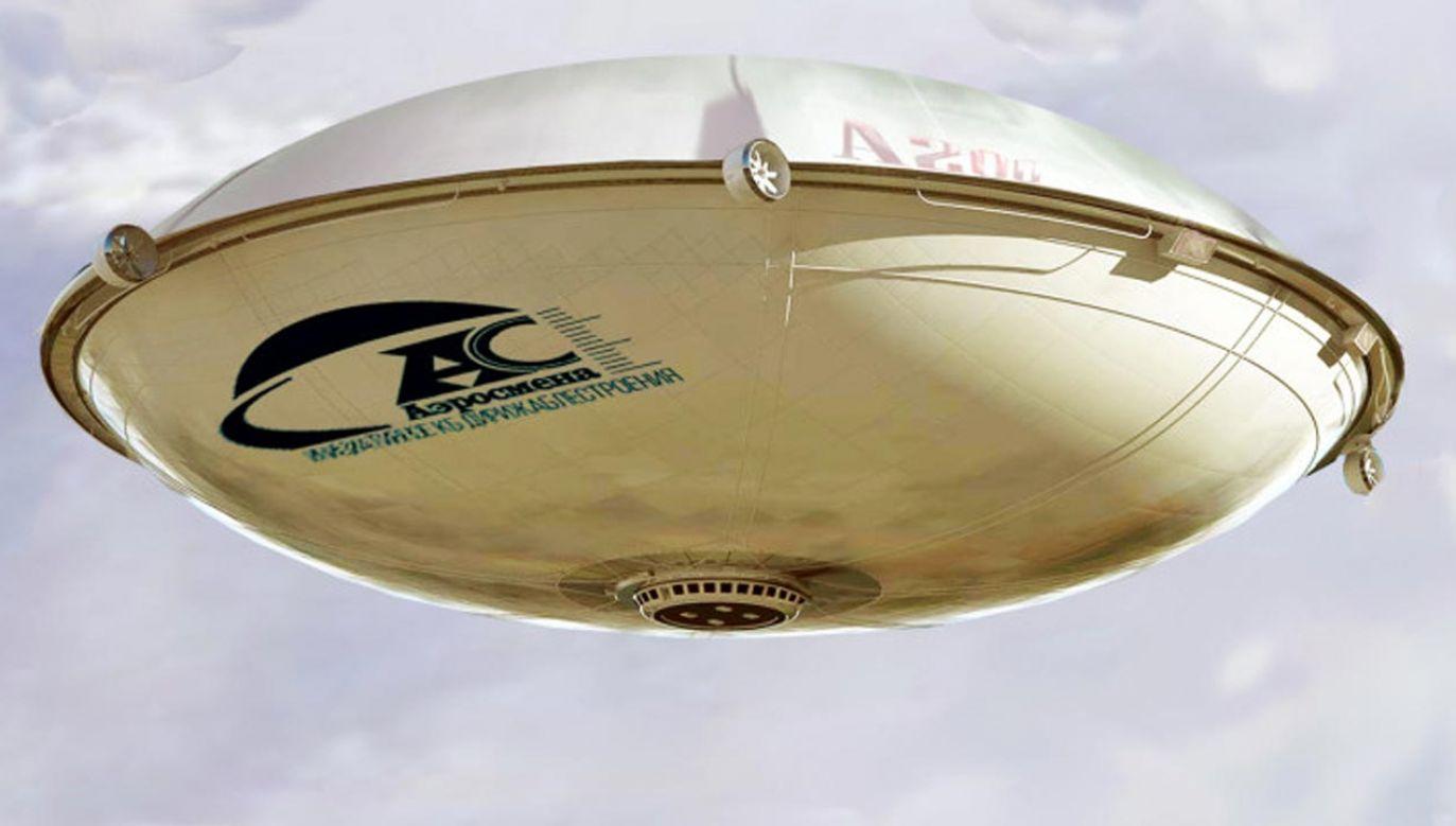 Wizualizacja nowego sterowca Aerosmena (fot. Aerosmena)