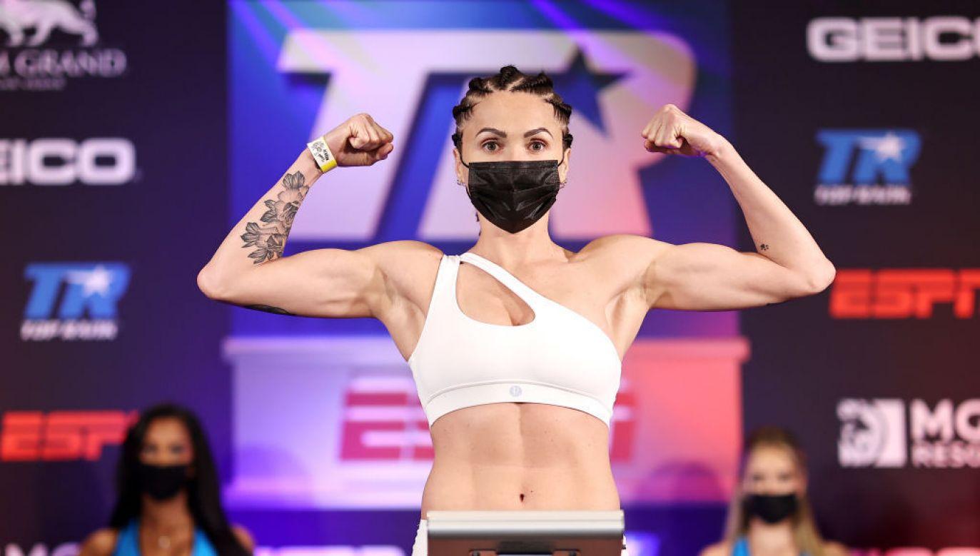 Ewa Brodnicka będzie dziśw nocy walczyć z Mikaelą Mayer (fot. Mikey Williams/Top Rank Inc via Getty Images)