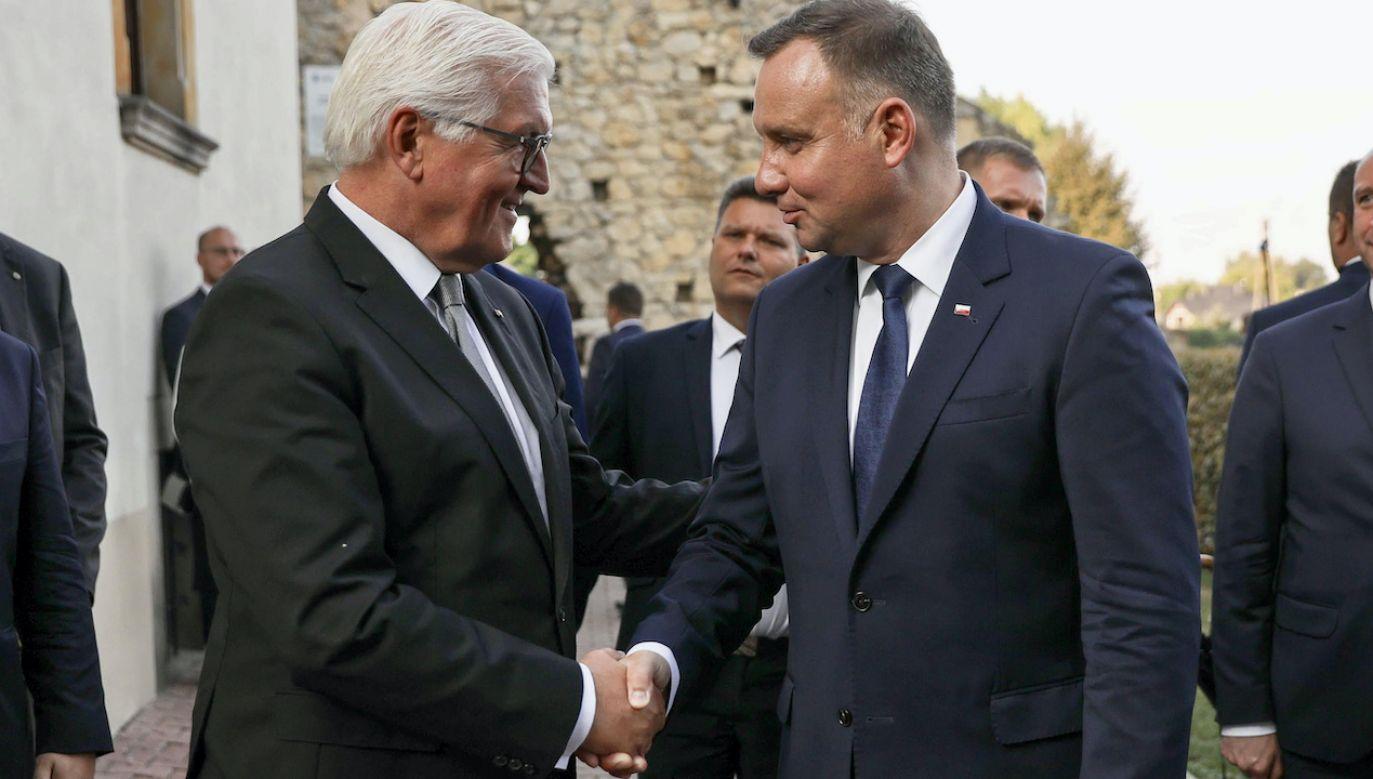 Frank-Walter Steinmeier i Andrzej Duda (fot. arch.PAP/Krzysztof Sitkowski/KPRP)